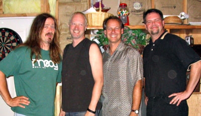 The band at a 2003 reunion. Your host at left.