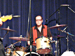Dennis Diken onstage with the Smithereens