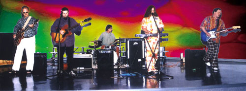 The Echoes of Tyme (Mike on drums; the author on keyboards; Dave  Jones on guitar at far right)
