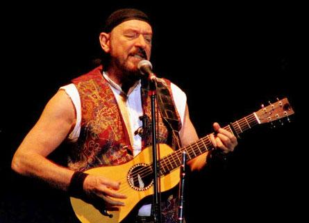 Ian Anderson onstage.