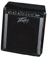 Peavey KB100. Nothing clever to say about it. A good piece of equipment, and my first amp actually designed for keys.
