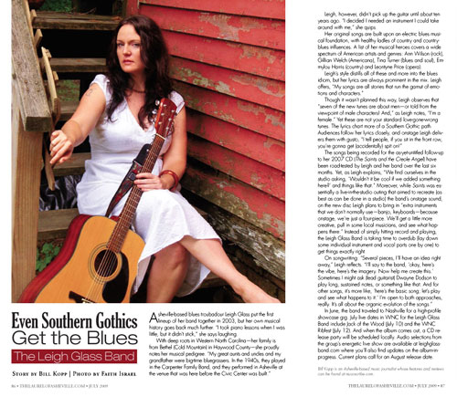 Leigh Glass Band feature in July 2009 The Laurel of Asheville