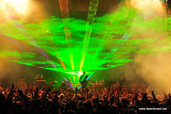 The Machine onstage (photo from lasershows.net)