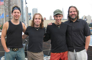 The Machine. L-R: Todd Cohen (drums), Ryan Ball (bass), scott Chasolen (keys), Joe Pascarell (guitar)