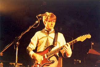 Neil Finn with Crowded House, 1981. Photo (c) Bill Kopp