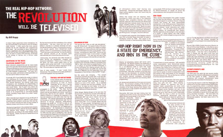The Revolution Will Be Televised -- Billboard Magazine, November 22, 2008 (part 1)