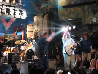 Roky Erickson and the Explosives, live onstage in New Orleans, 2008. Photo (c) Bill Kopp