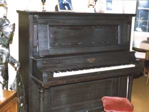 The 1908 Rudolf apartment grand. This thing requires tuning every couple presidential administrations or so. I still play it every day.
