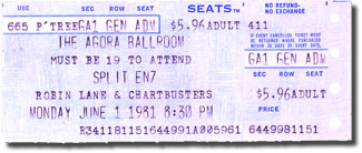 Split Enz Ticket stub, (c) from collection of Bill Kopp
