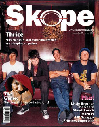 Skope Magazine cover story, November 2005